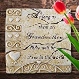 Banberry Designs Grandma Garden Stone - Stepping Stone for a Grandmother with a Loving Saying - Indoor/Outdoor