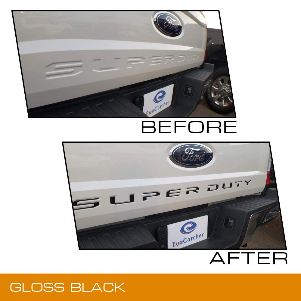 Gloss Black Haru Creative Dashboard Glove Box Letter Insert Overlay Vinyl Decal Compatible with and Fits 2017 2018 Ford Super Duty F250 F350 F450