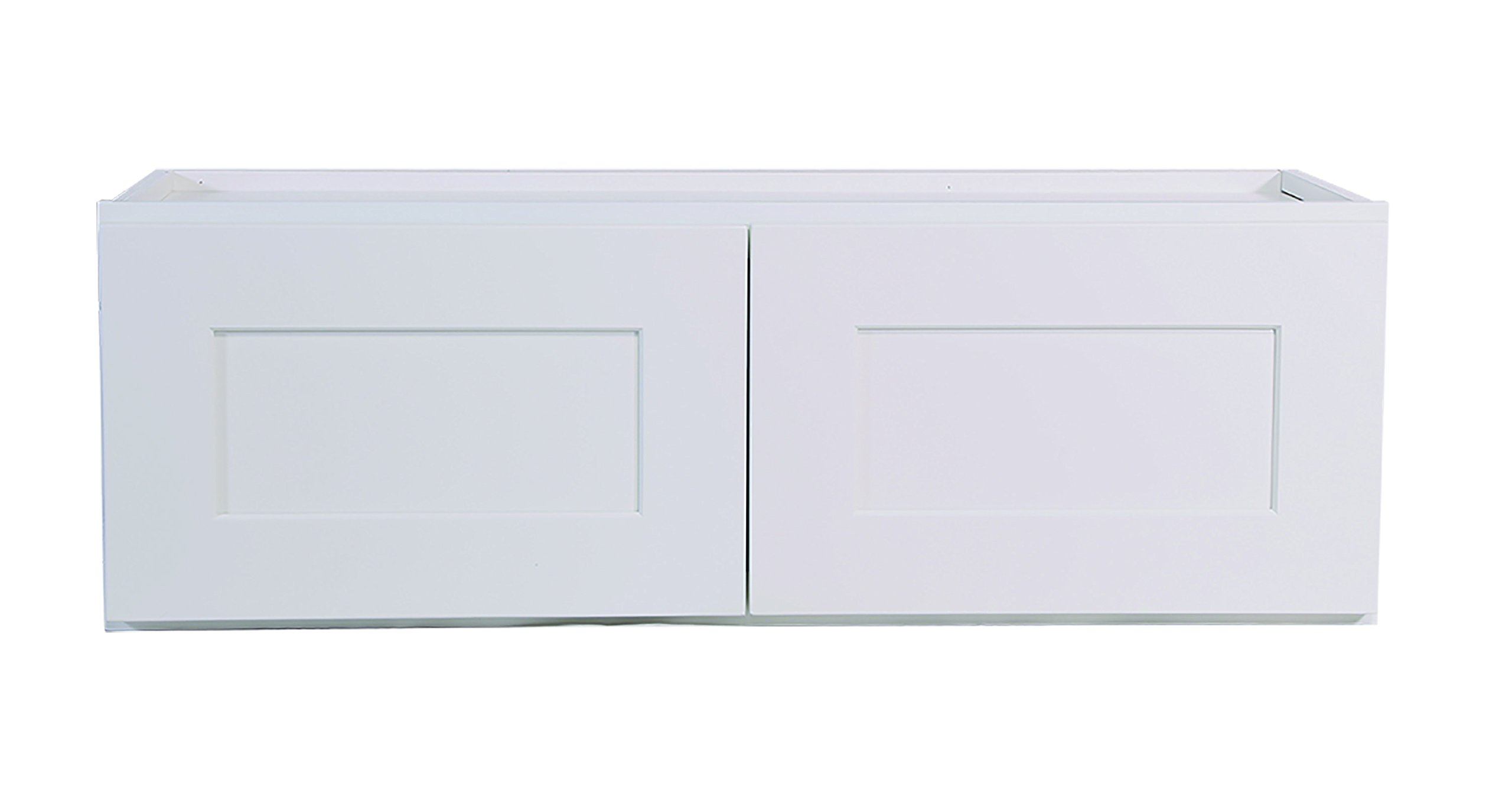 Design House 613455 Brookings 36'' Fully Assembled Kitchen Corner Wall Cabinet, White Shaker