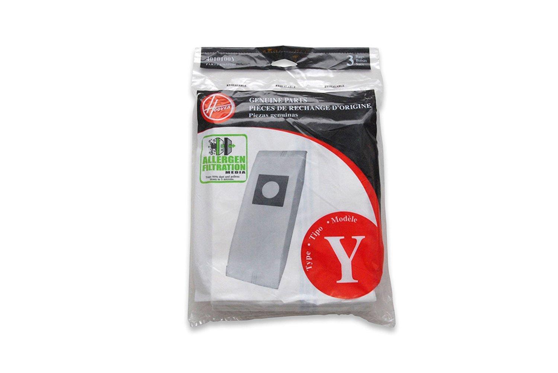 Hoover Type Y Allergen Bag (Count 3), 4010100Y - Pack of 5 by Hoover