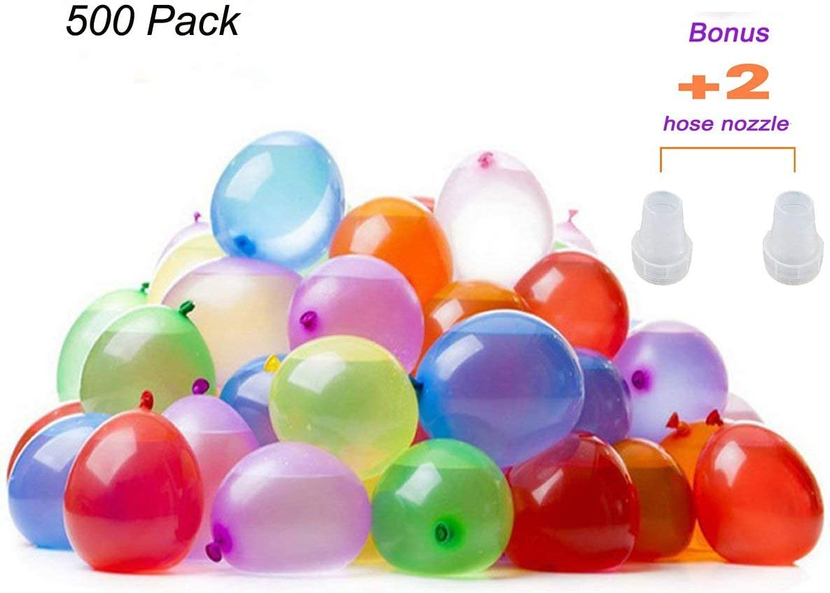 2 Pack with 2 GosuToys Stickers Water Bomb 18 Balloon Tote Water Balloon Fight Carrying Balloon Accessory with 175 Balloons for Quick Summer Splash Fun Outdoor Backyard Kids and Adults
