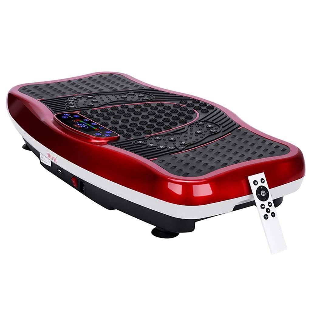 振動機 家庭用振動板 直立型減量振動板 スリム脂肪燃焼機、約150kg (Color : Red, Size : 78*43*14cm) 78*43*14cm Red B07STSX8C5