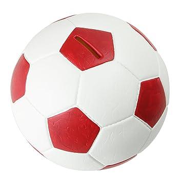 911a402f0d0b4 HMF 4790-03 Spardose Fußball Lederoptik 15 cm Durchmesser, rot weiß