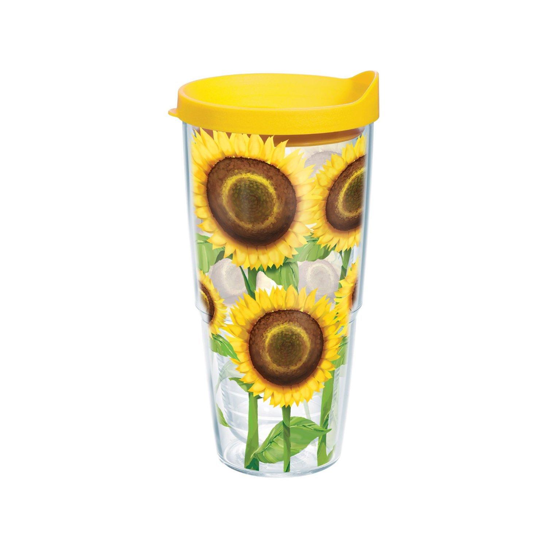 【日本製】 Tervis Sunflower Wrap Tervis Tumbler by with Yellow Lid, 24-Ounce by with Tervis [並行輸入品] B01AHEOZSG, ハセキュー:55f3c0a2 --- arianechie.dominiotemporario.com