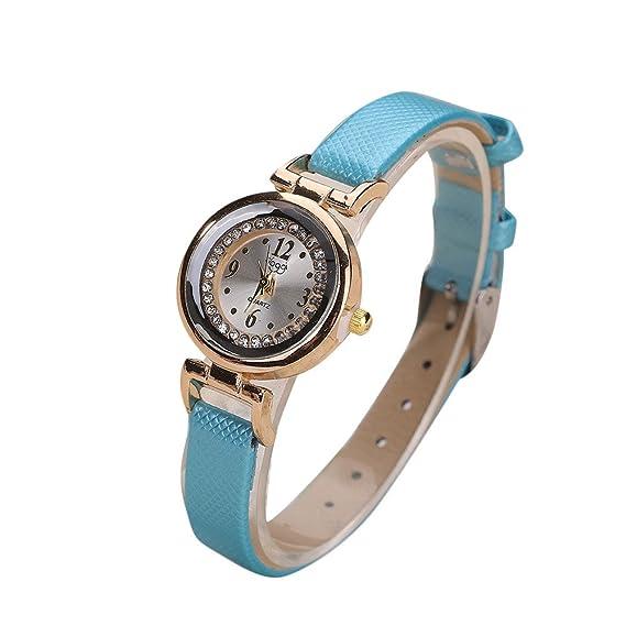 DressLksnf Reloj Lujo Moda de Mujer Pulsera Deportiva Acero Inoxidable Durable Correa de Cadena Digital Clásico Banda de Reloj Fina Cadena Ajuste Elegante ...