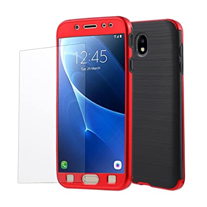 Galaxy J7 Pro Case, 360 Degree Full-body Protective Dual Layer Slim TPU Back b81999d6dcae