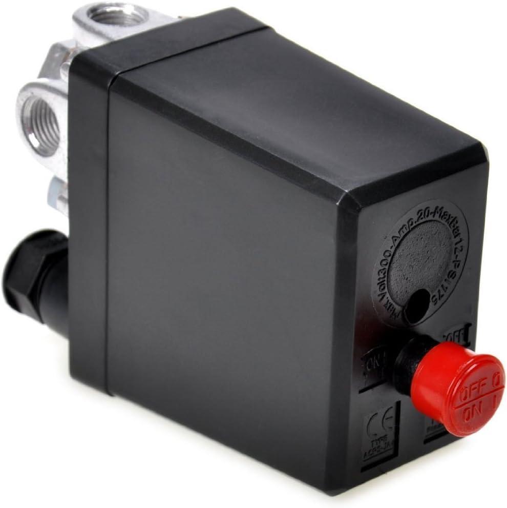 Haobase - Compresor de aire, con una válvula de control, 90-120 PSI, 240 V