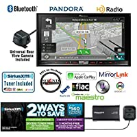 Pioneer In Dash Double Din AVIC-7200NEX Navigation DVD Receiver with 7 Touchscreen, Kenwood CMOS-22P Backup Camera and a SiriusXM SXV300v1 Tuner, Antenna and a FREE SOTS Air Freshener