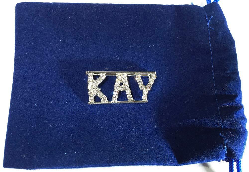 Personalized KAY Rhinestone Name Pin