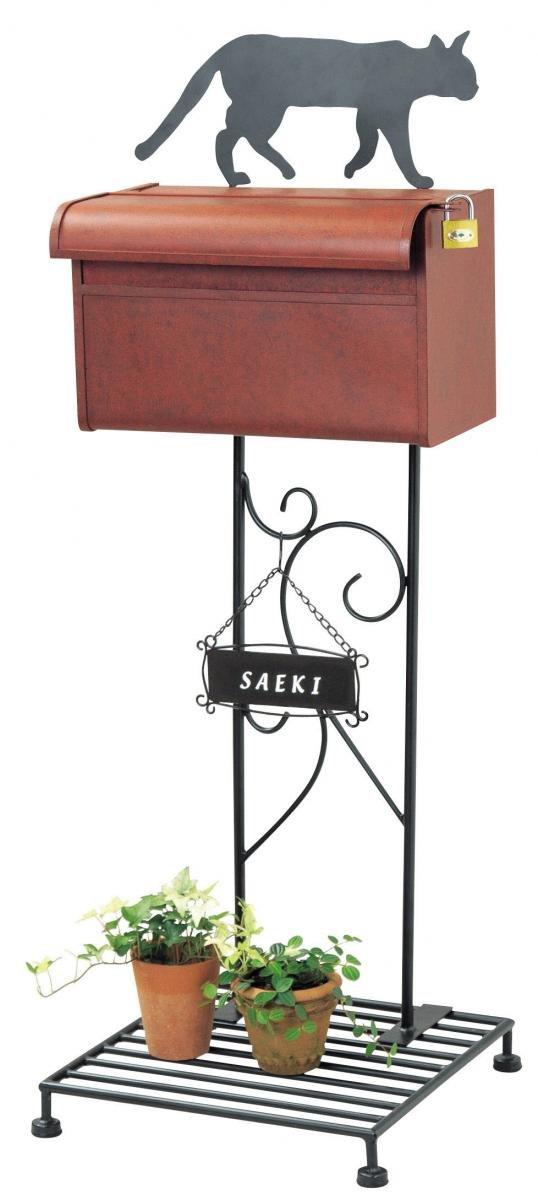 アイアンスタンド式シルエットポスト(キャット) 鍵付ポスト セトクラフト(SETO CRAFT) SI-1501-2300 B0068DI2XU 19872