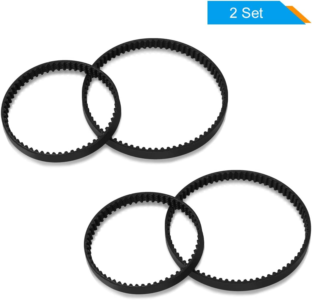 LANMU Belts Set for Bissell ProHeat 2X, Replacement Vacuum Belt Parts #203-6688 and #203-6804, Fits Models 9200 9300 9400 9500 Series (2 Set)