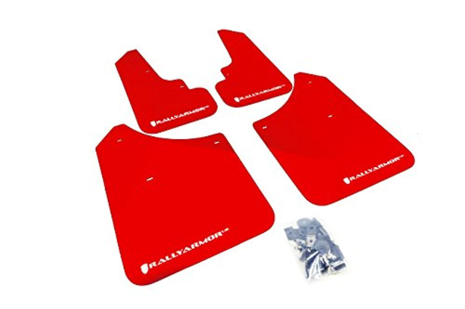 RALLY ARMOR UR BLACK MUD FLAPS FOR 2003-2008 SUBARU FORESTER w// RED LOGO