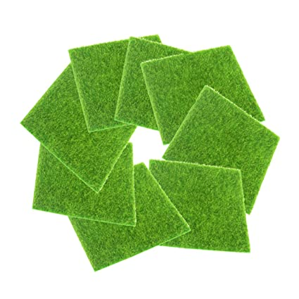 Fineinno 8 Feuilles Gazon Synthetique Artificial Grass Gazon