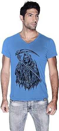 Creo Death Skull Bikers T-Shirt For Men - S