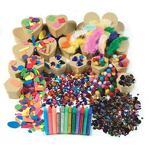 Chenille Kraft 1721 Paper Mache Kits, Glue, Glitter Pens, 24 Boxes