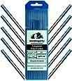 "WeldingCity 10-pk Premium TIG Welding Tungsten Electrode Rod 2.0% Lanthanated (AWS/EW-La20 Blue) 1/16"" x 7"" | 10-pcs"