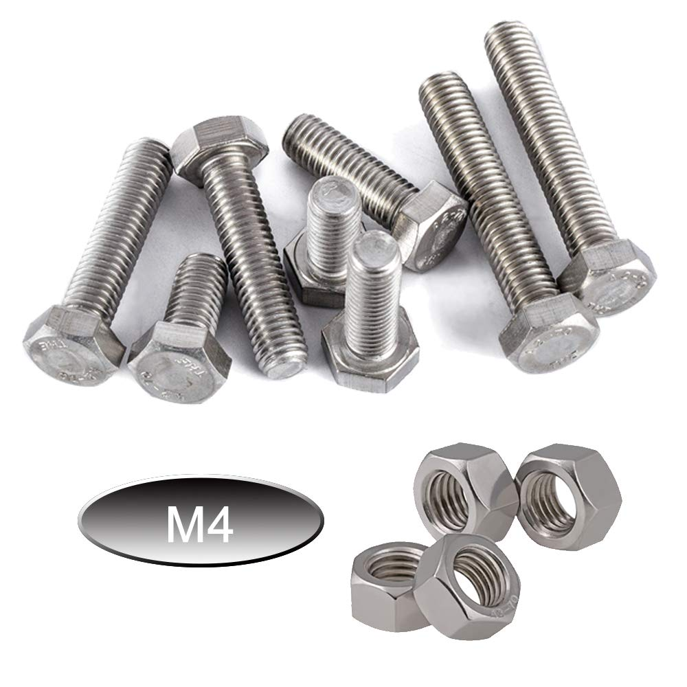 Newlng M3 304 Stainless Steel Hexagon Socket Head Cap Screws Hexagon Socket Head Screw Head Mechanical Parts Bolt and Nut Combination Box