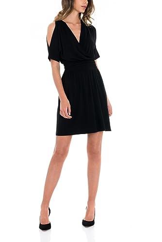 SALSA Vestido negro básico de punto