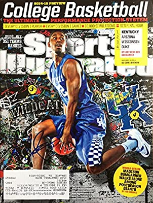 Alex Poythress KENTUCKY WILDCATS autographed Sports Illustrated magazine 11/10/14