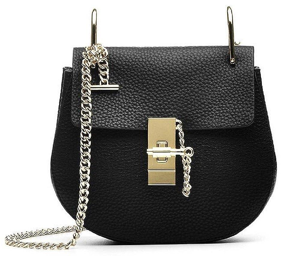 Black Women's Genuine Leather Handbags Chain Lady Shoulder Bag By JiYe