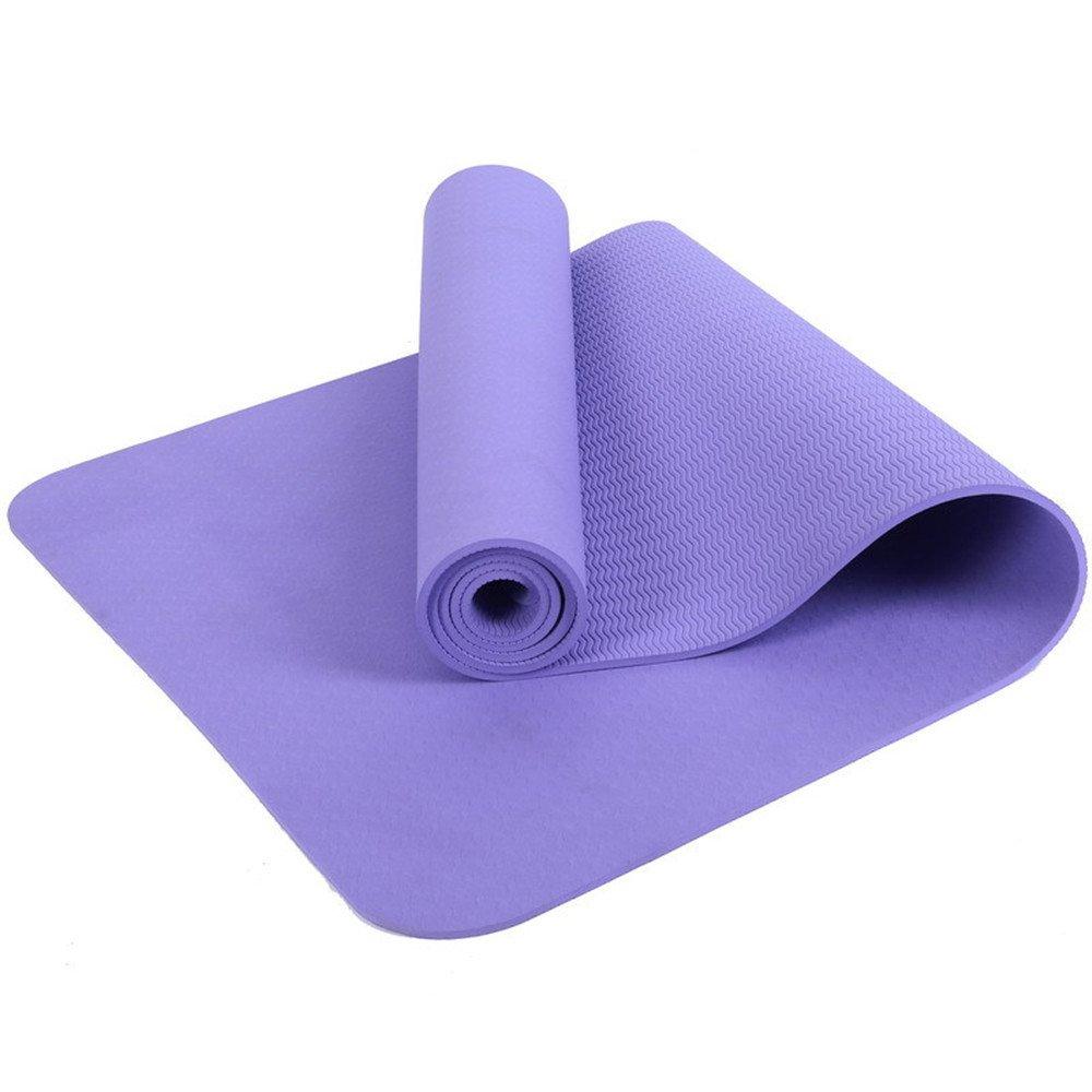 Violet LILUO Tapis de Yoga TPE Yoga Fournitures Débutants Hommes et Femmes Yoga Tapis de Yoga Multifonctionnel 183  80  0.8cm