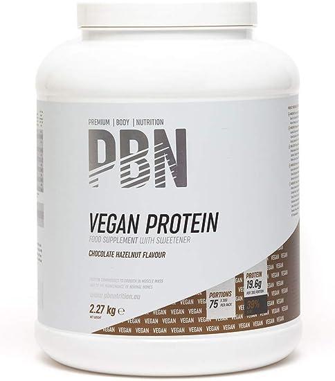 PBN - Premium Body Nutrition PBN - Bote de proteínas para veganos, 2.27 kg (sabor chocolate con avellanas)