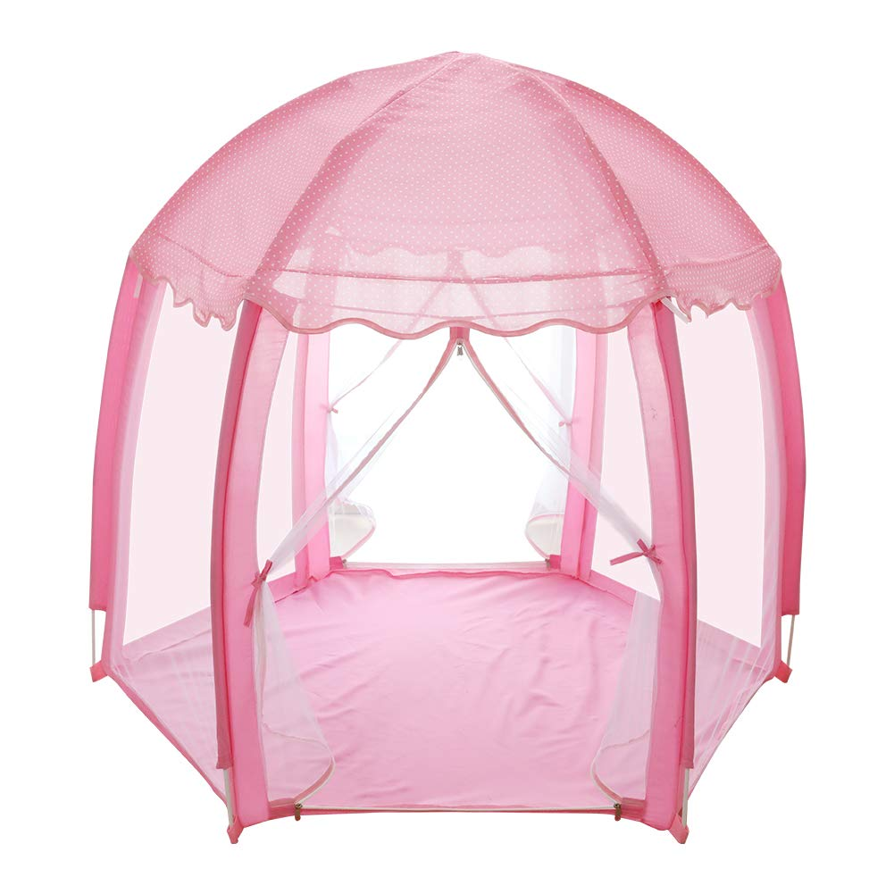 yuandao Hexagonal Kids Tent, New Princess Tent Hexagonal Princess Castle Indoor and Outdoor Girls Tent, 55'' x 51''(DxH) by yuandao (Image #1)
