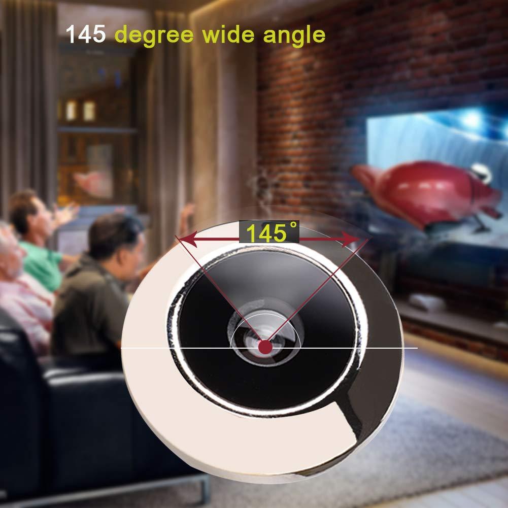 Kafuty Timbre de Puerta con Visor Digital Inteligente con Pantalla HD de 2,4 Pulgadas y c/ámara de Seguridad de /ángulo Amplio de 145 Grados Almacenamiento de Fotos de Soporte