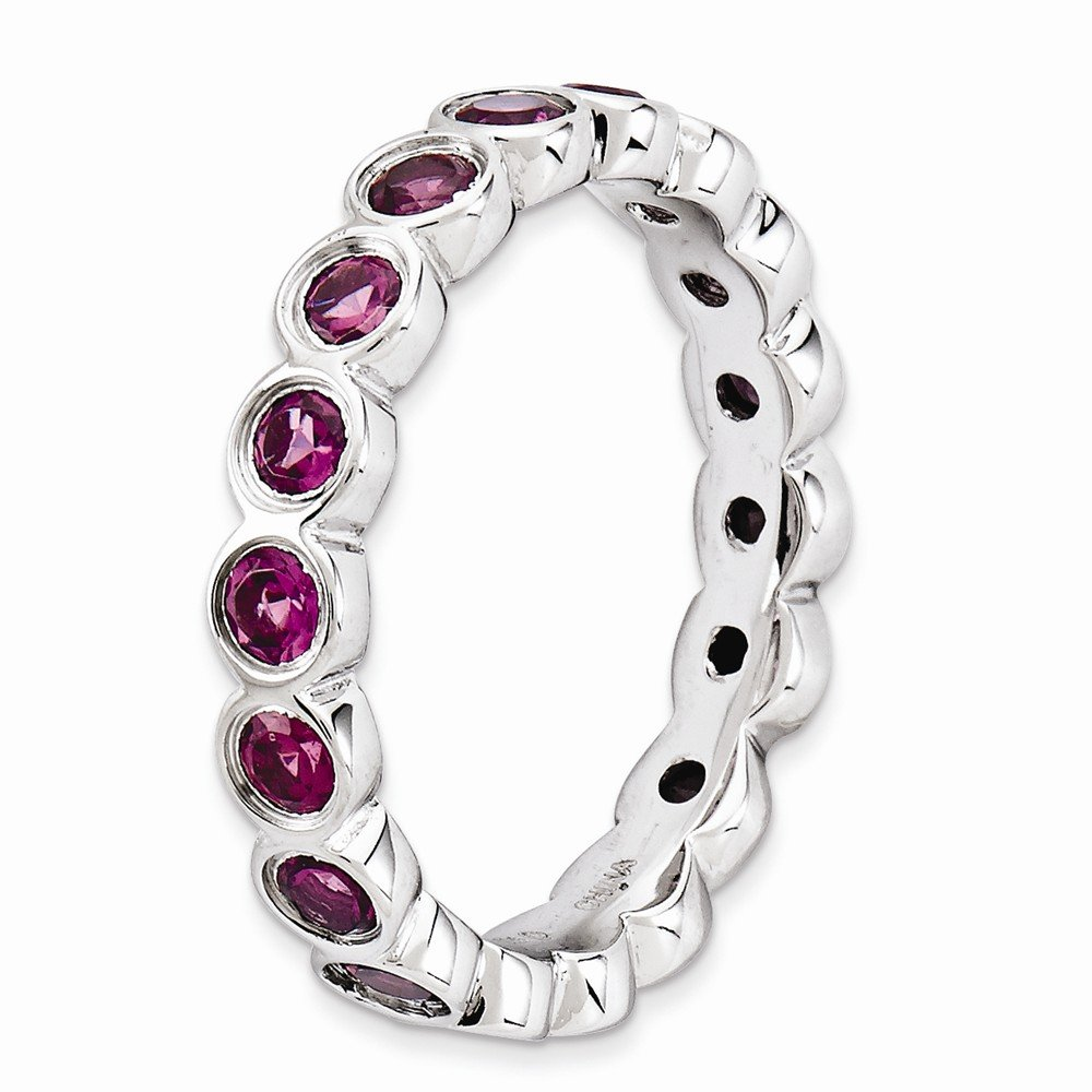 Sterling Silver Stackable Expressions Rhodolite Garnet Ring Size 7 by Jewels By Lux (Image #3)