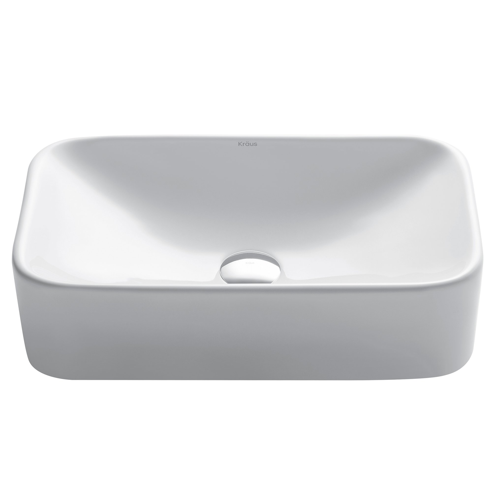 Kraus KCV-122 White Rectangular Ceramic Bathroom Sink by Kraus
