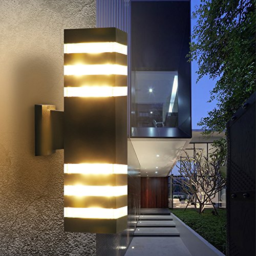 Outdoor Wall Sconce LED Lights-Modern Waterproof Up Down Aluminum ...