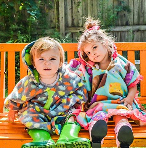 girls traveling car seat poncho reversible warm blanket safe use over seat belts buy online in. Black Bedroom Furniture Sets. Home Design Ideas