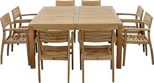 Amazonia Teak Victoria 9-Piece Teak Square Dining Set
