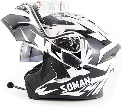 Sooiy Bluetooth Integrated Modular Flip Up Full Face Motorrad Helm Intercom Sonnenschutz Mp3 Motorradhelm Weiß Xxl Küche Haushalt