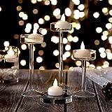 COUTUDI Velas Flotantes Velas Navidad Decoracion Velas Led Boda Larga Vida Activado por Agua LED Luces de té para la Fiesta Decoración Floral Batería Incluida (Blanco Frio) 12Piezas