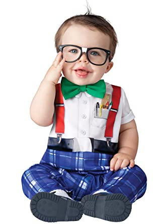 Amazon.com: Baby Infant Halloween Costume - Nursery Nerd Costume ...