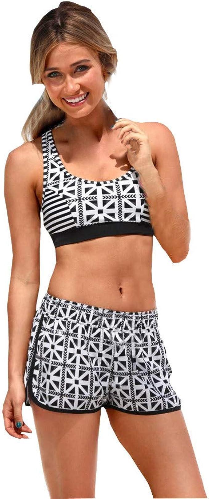 Bikinis Mujer 2019 Push up Riou Mujeres Traje de Ba/ñO Estampado Bohemio Dividido Ba/ñAdores con Relleno Ajustable brasile/ño vikinis Playa de Verano Ba/ñador