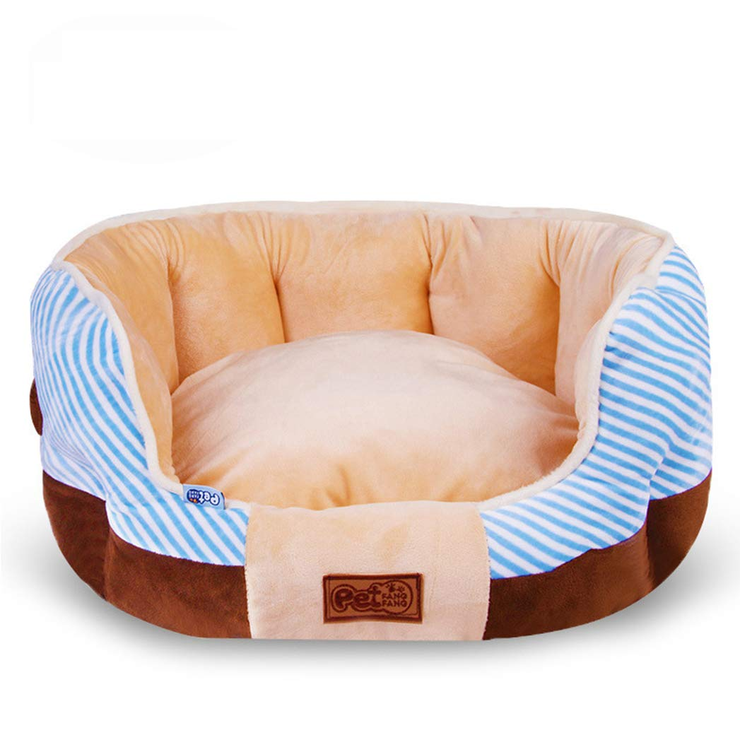 blueE M blueE M SENERY Pet Dog Bed,Fall and Winter Soft Warm Dog House Mat for Pet Dogs Nest Kennel Cat Puppy
