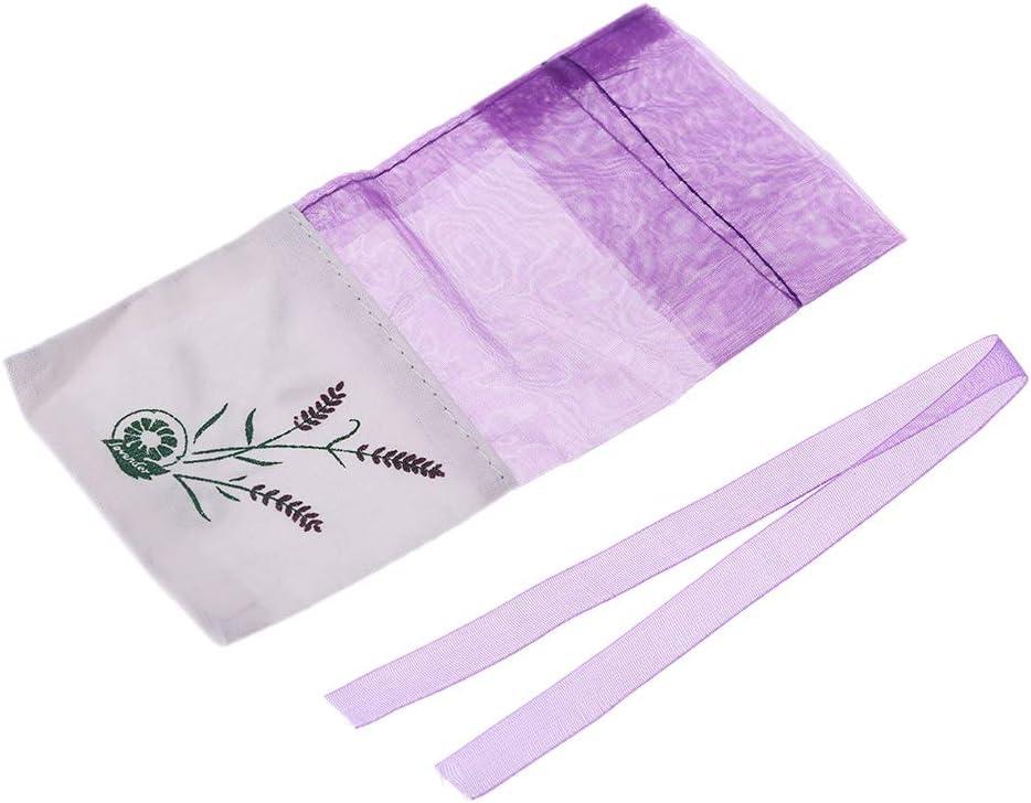 SimpleLif Lavender Sachet Empty Bag Mesh Stitching Beam Pocket for Storage Dry Flowers Seeds