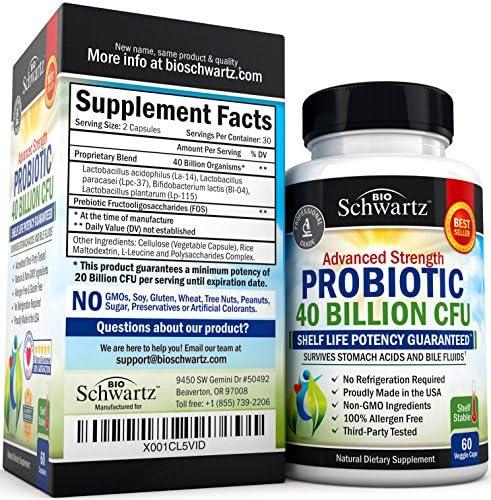 Probiotic 40 Billion CFU Guaranteed Potency until Expiration - Patented Delay Release, Shelf Stable - Gluten Dairy Free Probiotics for Women & Men - Lactobacillus Acidophilus - No Refrigeration Needed 4