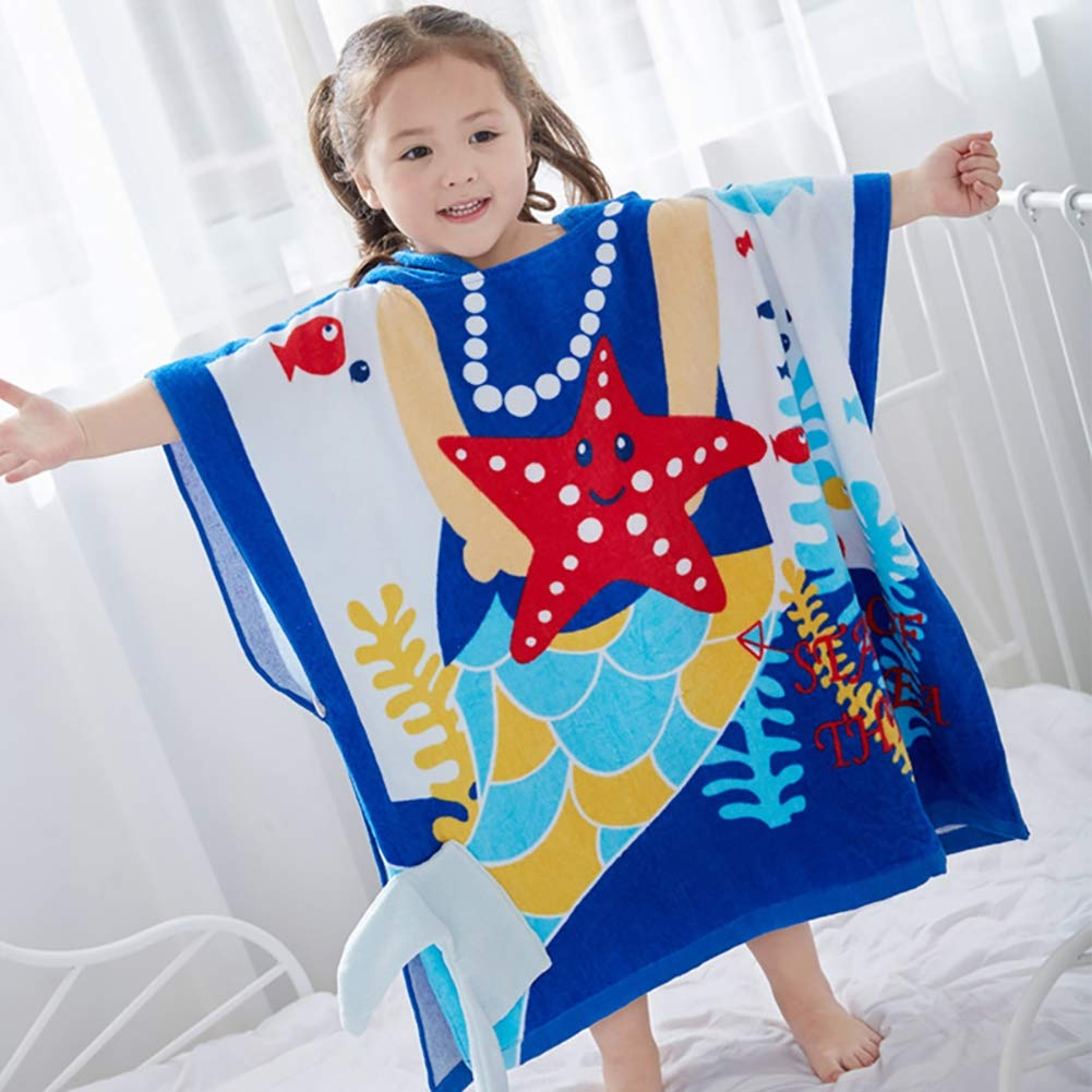 XXRBB Kids Baby Hooded Towel 70x140cm(28x55inch),Large Bathrobe 100% Cotton Soft Thick Super Absorbent for Boys Girls,1 by XXRBB
