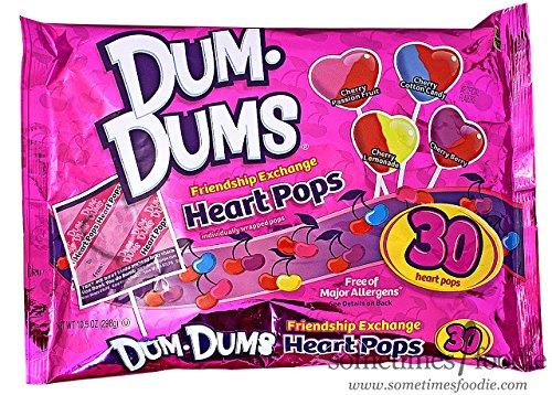 Valentine Lollipop - Dum Dums Heart Pops 30ct