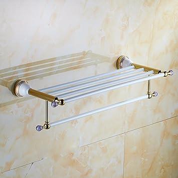 Weißes Badezimmer   Yff Ilu Edelstahl Gold Weisses Badezimmer Handtuchhalter Kreative