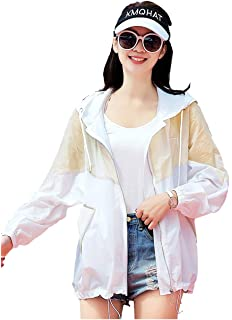 Women Summer Sunscreen Jacket UV//Sun Protection Hooded Outerwear Shawl Quick Dry Casual Short Coat