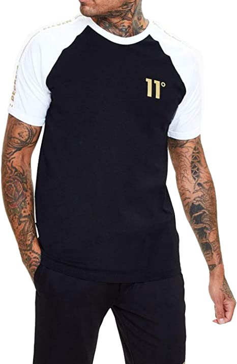 11 Degrees Camiseta Negra Sport Hombre Algodon (S): Amazon.es: Ropa y accesorios