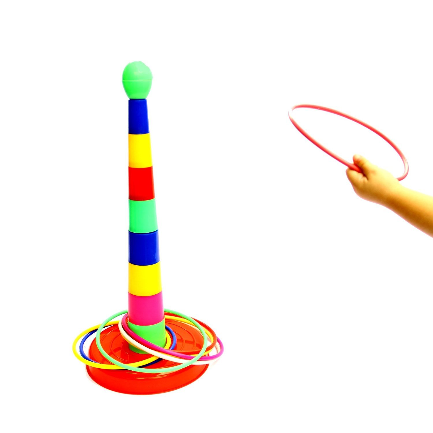 Ring Toss Game Set 46 Centimeters - 18 Inches Colorful Plastic Sport Game dazzling toys