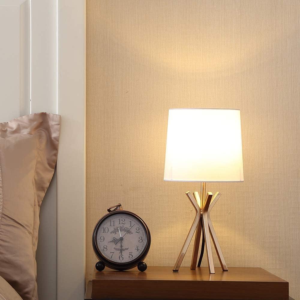 Popilion Modern Brass Base Bedside Lamp