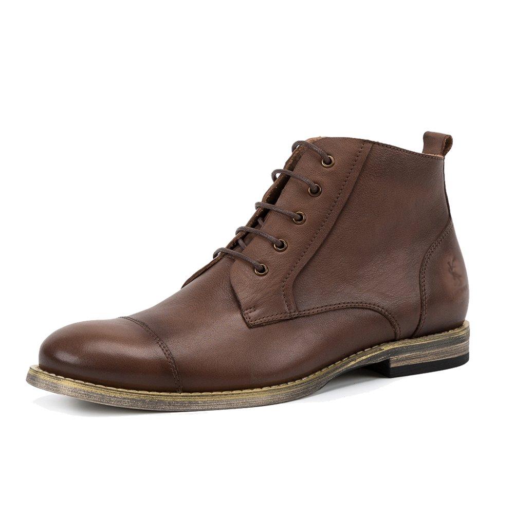 MERRYHE Echtes Leder Stiefeletten Herren Schnürschuhe Martins Schuhe Vintage Desert Stiefel Für Jungen Vaters Geschenke