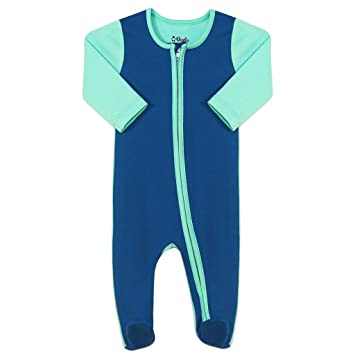 20e6600f387b 100% Organic Cotton Super Soft Baby Sleepsuit Romper with Zip 0-12 Months  Sizes GOTS Accredited (6-9 months