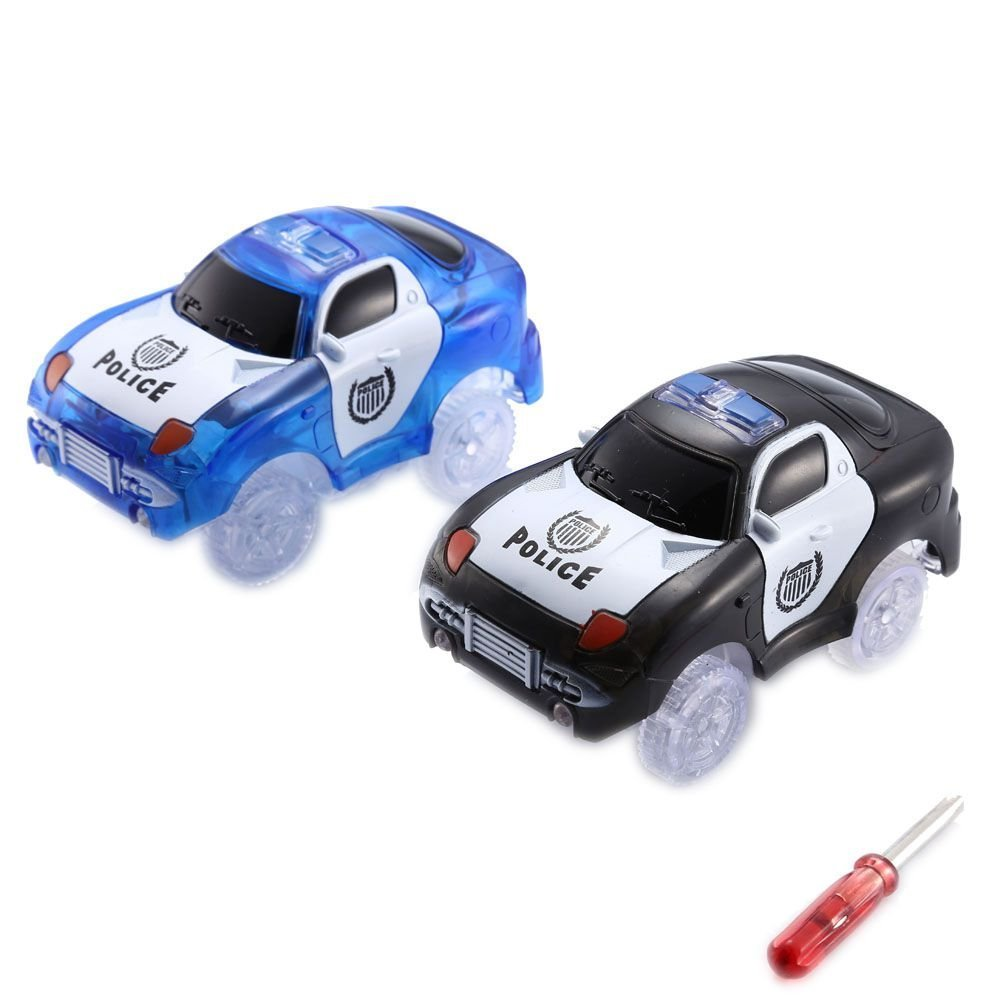 Codomoxo® Light Up Cars for Magic Tracks the Flexible and Bright Circuit Truck (blue+black)